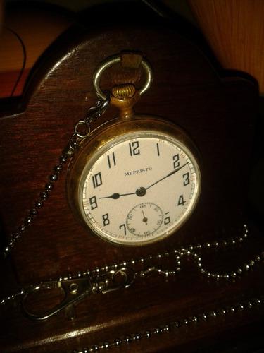 relíquia: relógio bolso mephisto pocket watch - swiss/1938