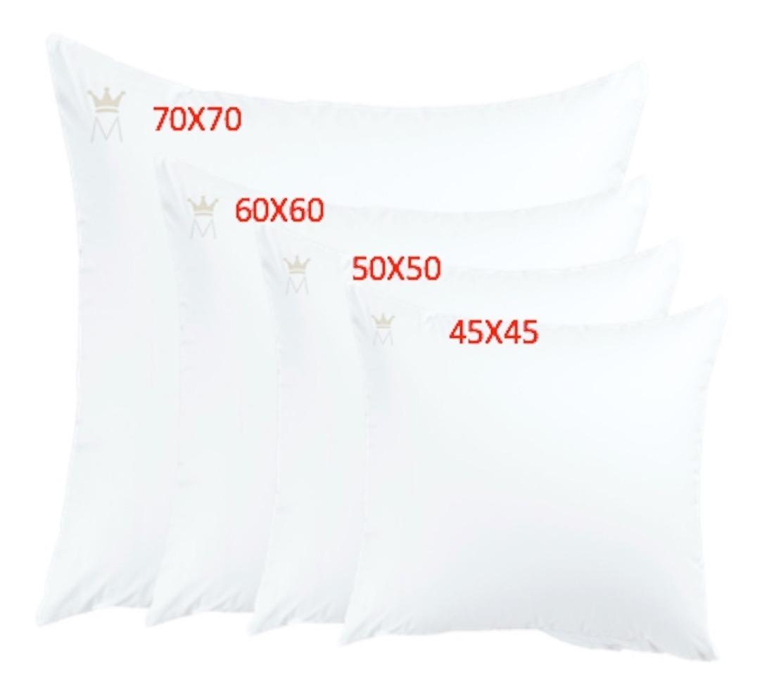 Relleno Cojines 70x70.Relleno De Cojin Monarca Microfibra Lavable 10 Pack 45x45