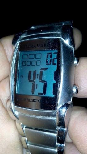 reloc digital cronometro alarma 3atm ultramarine unico
