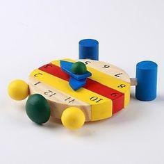 relog didactico de madera 10 piezas