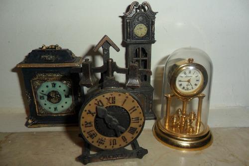 relóginhos miniaturas de enfeites
