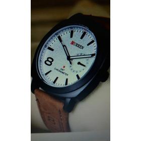 Relógio   Curren  Casual  Prova  D'água  30m,couro  Legitimo