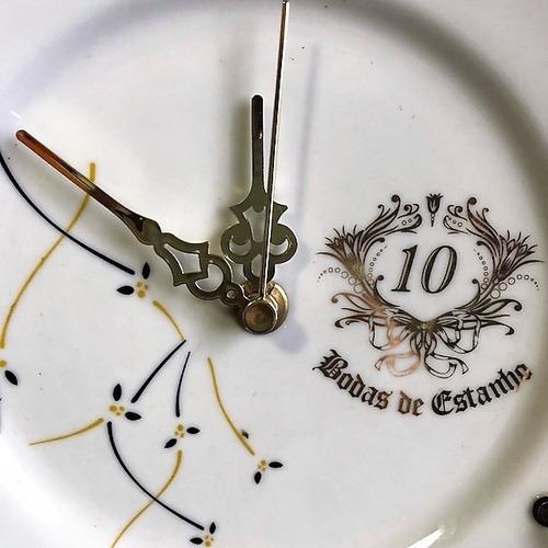 relógio 10 anos. bodas de estanho