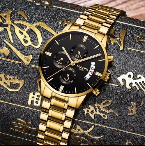 relógio 2309 nibosi anti risco frete grátis promoção de luxo