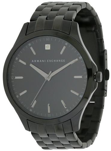relógio a exchange slim black ax2159