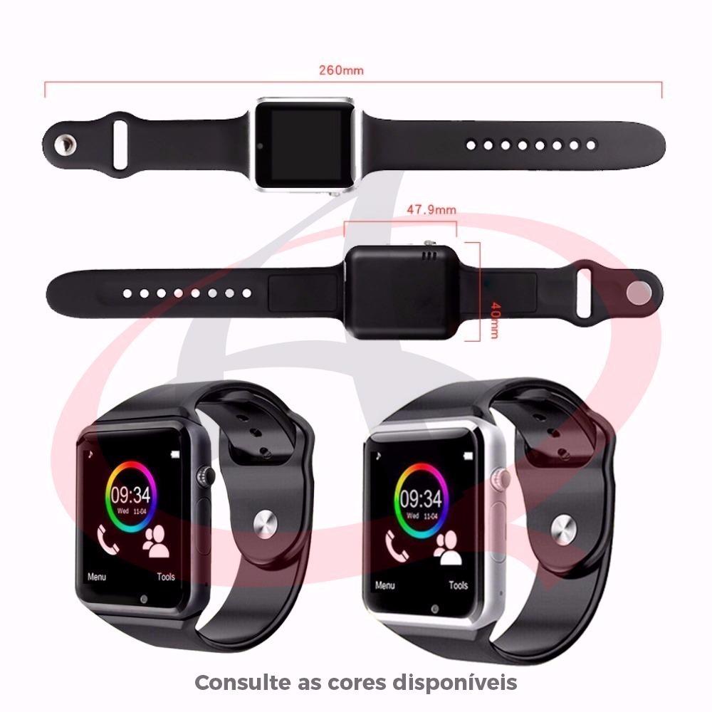 ddad91bc57b relógio a1 bluetooth smart watch gear android. Carregando zoom.