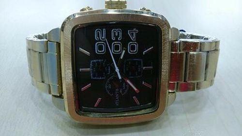 relógio a3339 original atlantis quadrado dourado
