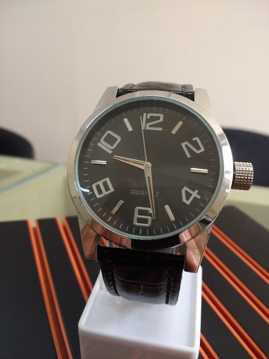 9e0bf65da48 relogio aço mega oferta analogico importado pulseira couro. Carregando zoom.