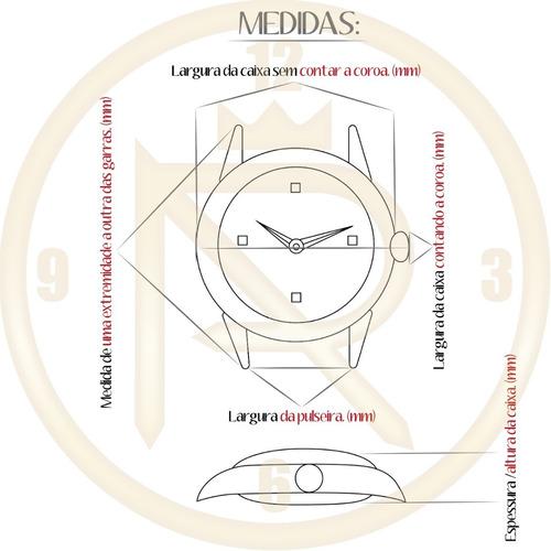 relógio activa cuadro swiss movement ronda preto
