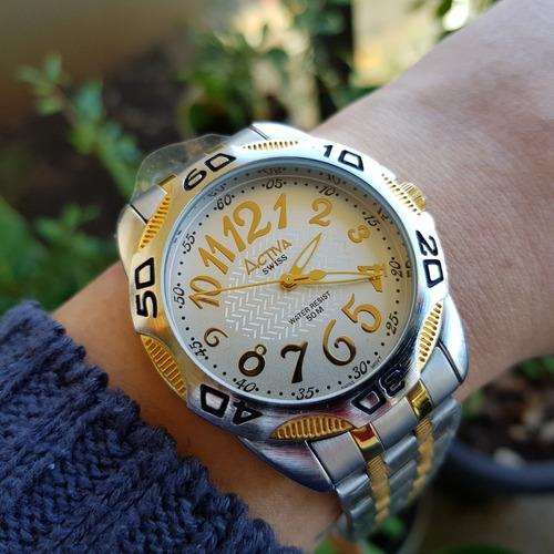 relógio activa quartz swiss parts movement branco