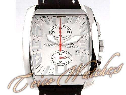 relógio adee kaye beverly hills chronograph aço safira 42mm