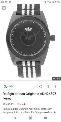relógio adidas adh 2659 santiago 100% original