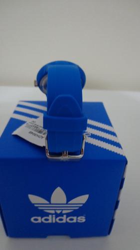 relógio adidas fem azul   adh 3049  original pronta entrega