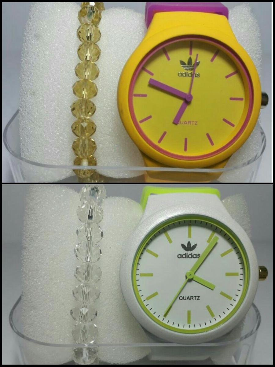 90203980dc6 relógio adidas feminino 10 relógios 10 caixas 10 pulseira. Carregando zoom.