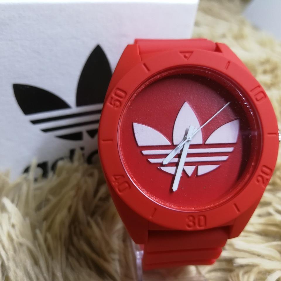 f77e9a0ece4 Relógio adidas Santiago Masculino De Borracha - R  59