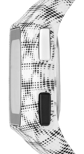 relógio adidas masculino branco xadrez esportivo adp3242/8bm