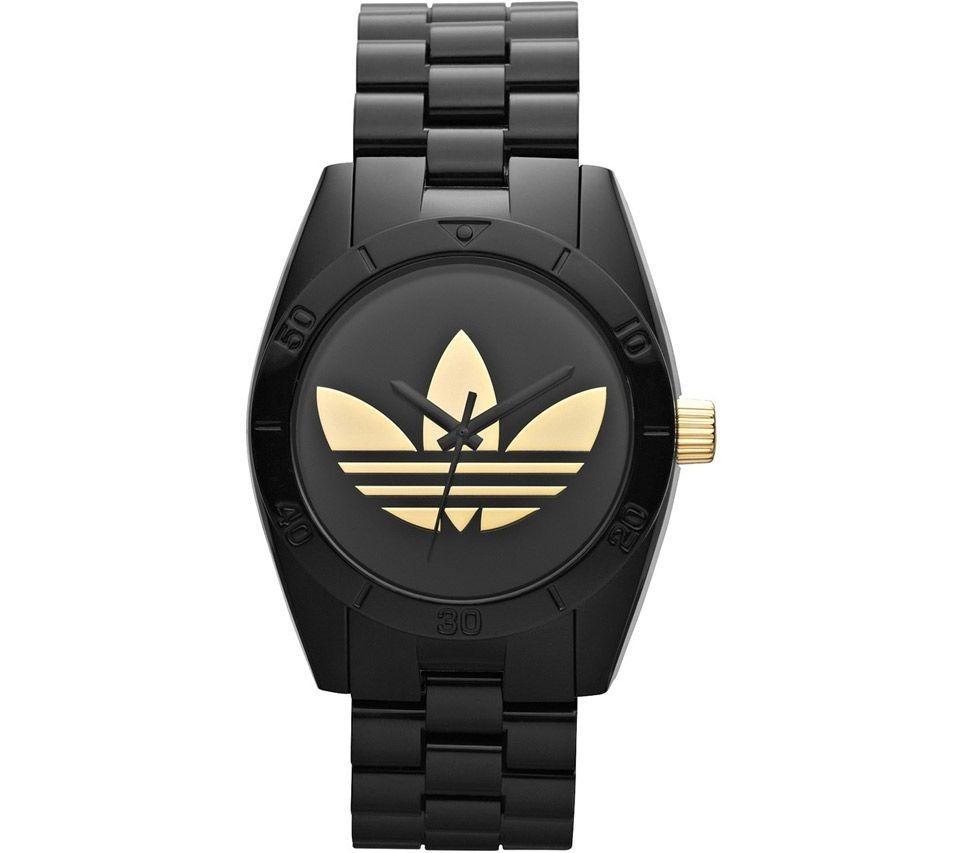 ce3d59ce7eb Relógio adidas Originals Santiago Adh2798 z - Preto  Dourado - R  404