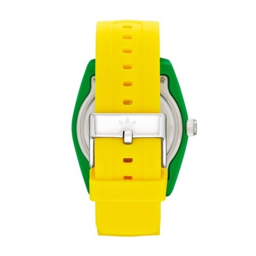 33ec27c53d3 Relógio adidas Originals Santiago Adh2949 8an Verde Amarelo - R  164 ...