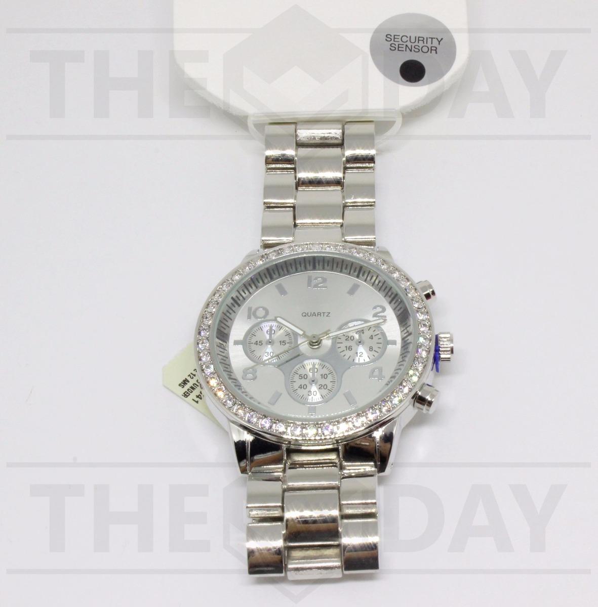 4941c0cfb57 relógio aeropostale feminino original importado prata strass. Carregando  zoom.