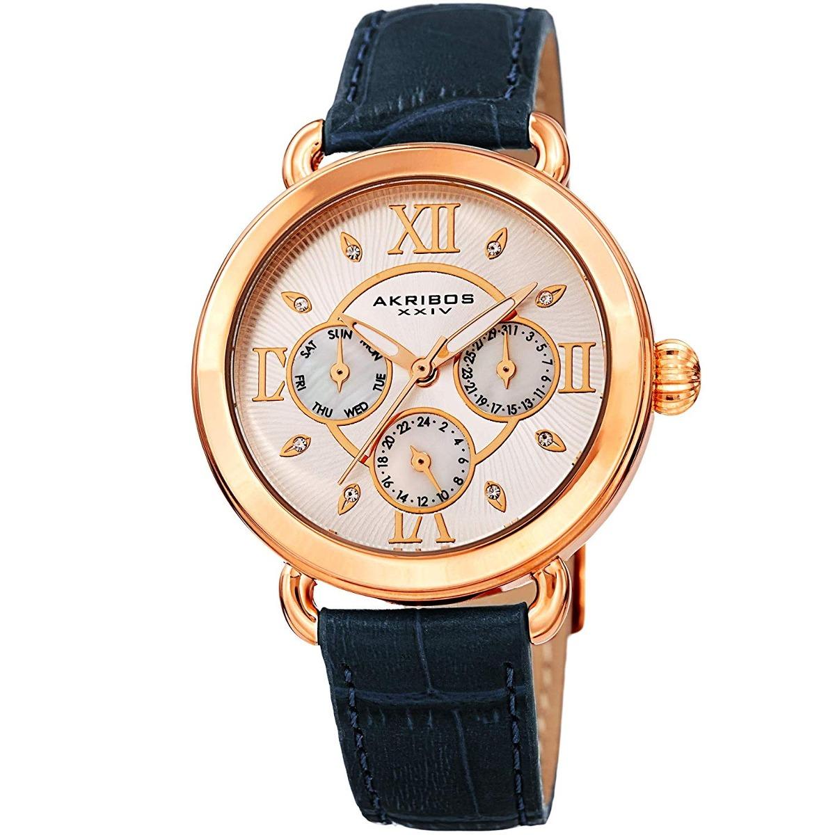 b0a8e692a8f Relógio Akribos Xxiv Multifunction Leather W - 222882 - R  751