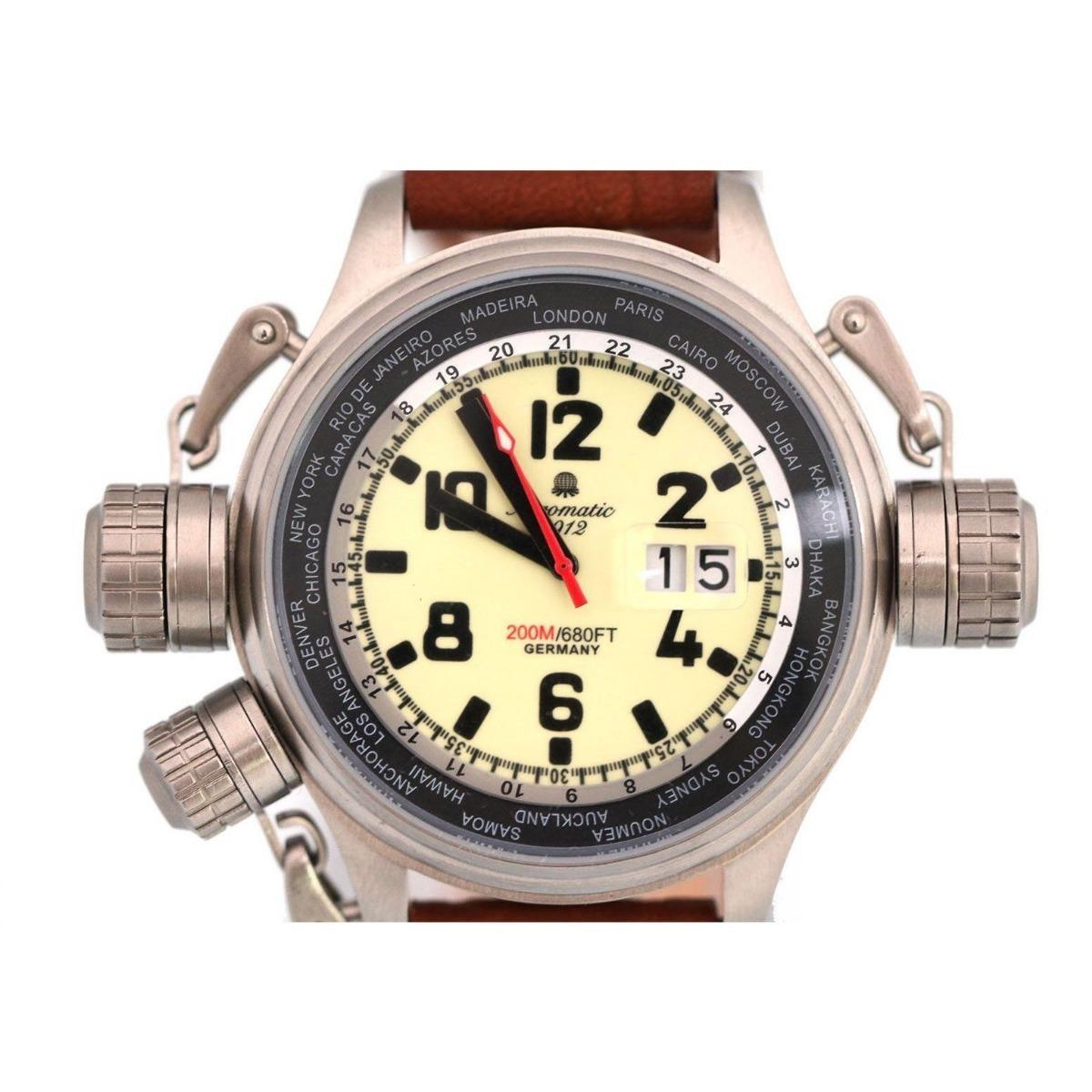 30938397f5f relógio alemão suíço aeromatic militar worldtimer gmt a1285. Carregando  zoom.
