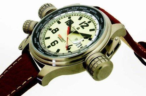 92584344a93 Relógio Alemão Suíço Aeromatic Militar Worldtimer Gmt A1285 - R ...