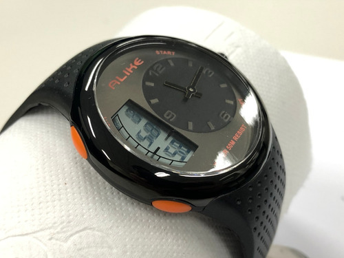 relógio alike ana-digi ak16128 esportivo a prova d'água 50m