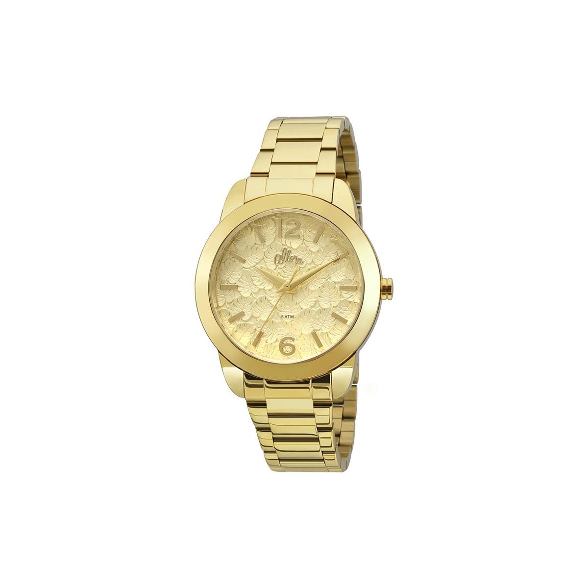 640ae964bdf relógio allora analógico feminino + banhado a ouro 24k al203. Carregando  zoom.