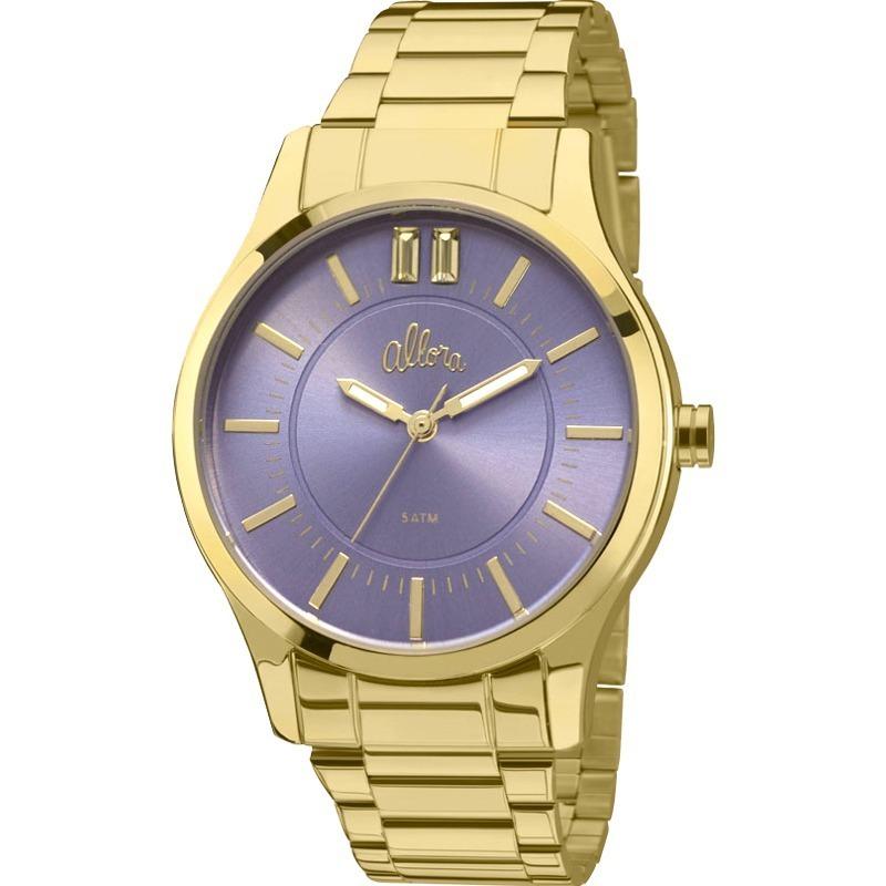 55a0b09d925ae Relógio Allora Feminino Simples Encontro Al2036cn 4a - R  179