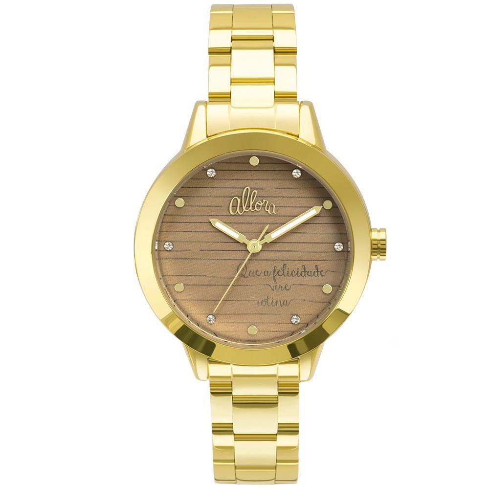 da7128dad27 Kit Relógio Allora Feminino Serena Al2036flv k4m - Dourado - R  229 ...