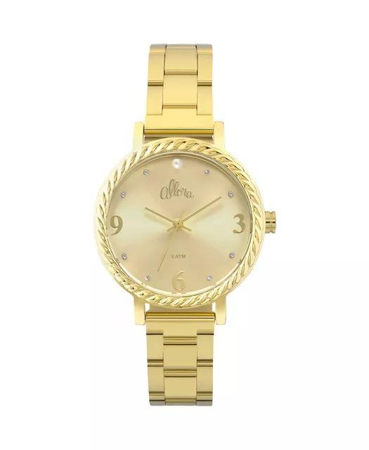 21bbeacf419ef Relógio Allora Feminino Dourado - Al2035fkw k4x + 2 Pulseira - R ...