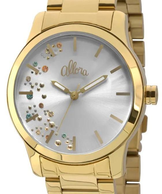bf7c2a39095 Relógio Allora Feminino Dourado Al2036ca 4b - Nota Fiscal - R  179 ...