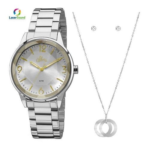 relógio allora kit feminino al2035fat/k3k, c/ garantia e nf