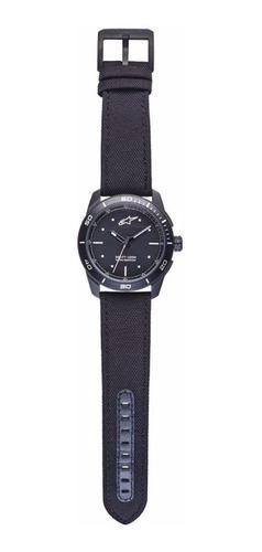 relógio alpinestars tech 3h preto pulseira nylon