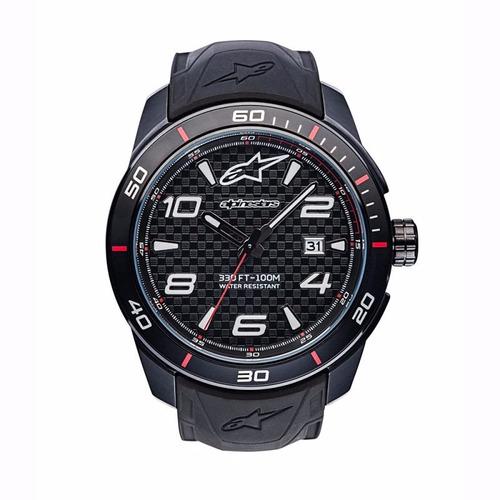 relógio alpinestars tech 3h preto silicone preto