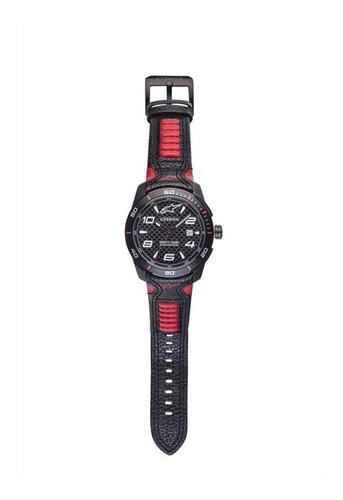 relógio alpinestars tech 3h pulseira couro presente dia pai
