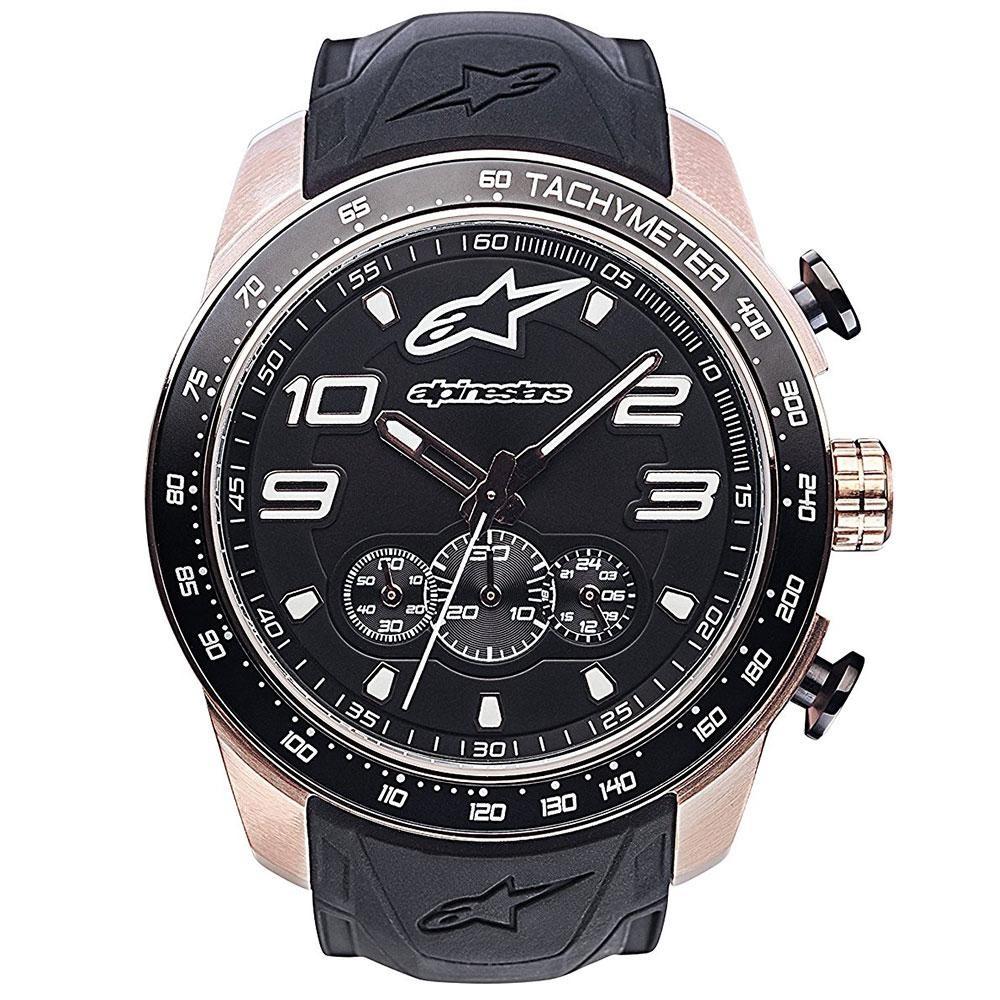 c5b552ec059 Relógio Alpinestars Tech Dourado Chrono (pulseira Silicone P - R  1.199
