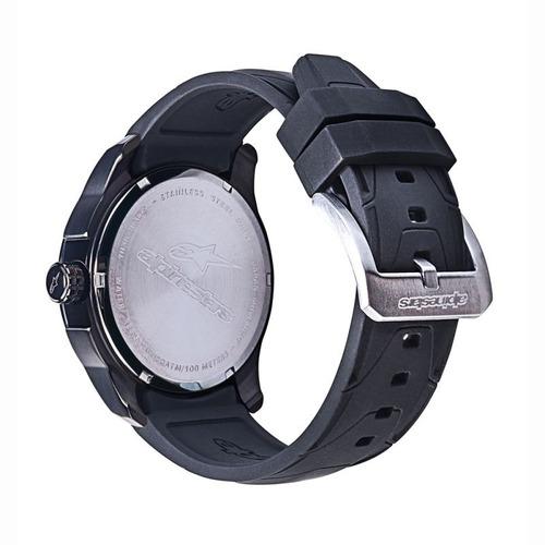 relógio alpinestars tech pulseira nylon coleção moto preto