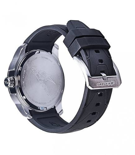 relogio alpinestars tech watch prata pulseira silicone prata