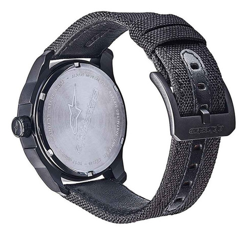 relogio alpinestars tech watch pulseira nylon miyota branco