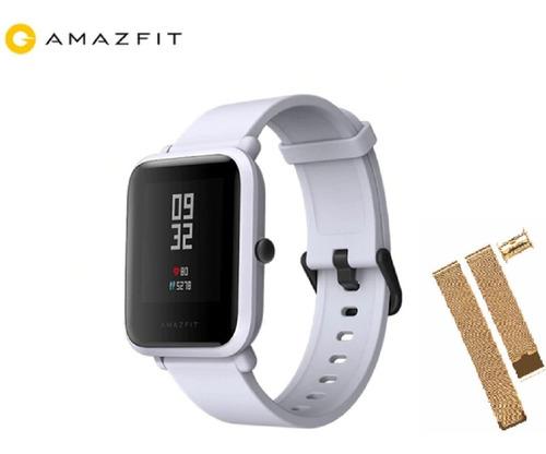 relógio amazfit bip xiaomi - gps +pulseira de aço