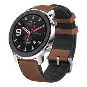 Relógio Amazfit Gtr Smartwatch 47 Mm Prata / Marrom - Xiaomi
