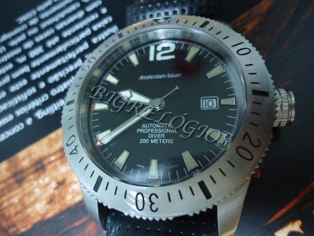 5a3aa064188 Relógio Amsterdam Sauer Diver Automatico 200m - R  1.299