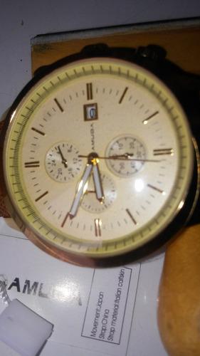 relógio amuda a prova de água 30 mt  unissex