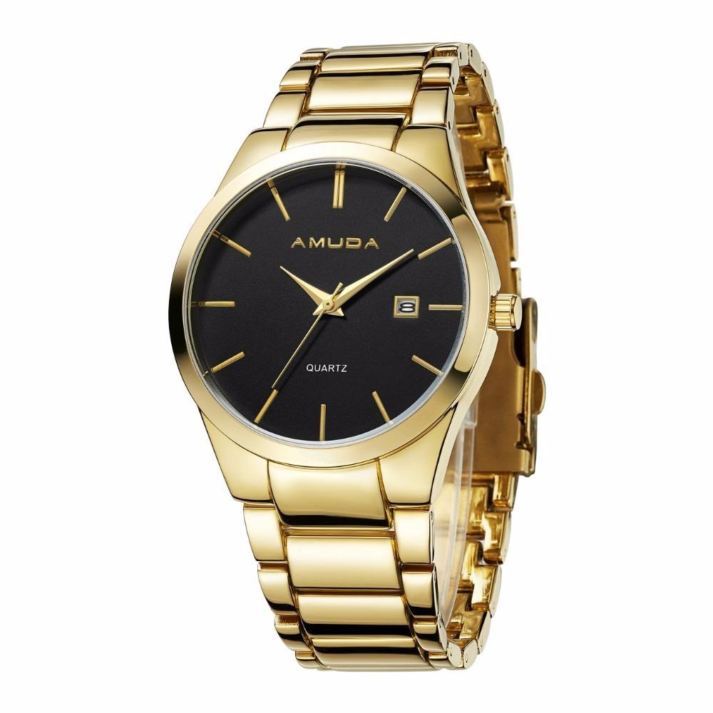 40b02c8aa4b relógio amuda casual masculino original modelo am2001 ouro. Carregando zoom.
