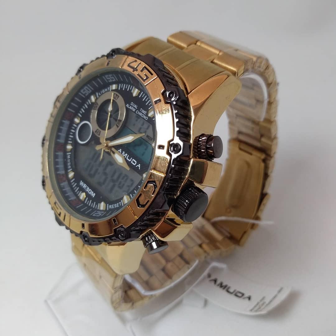 6e379cca448 relogio amuda dourado importado envio imediato pesado luxo. Carregando zoom.