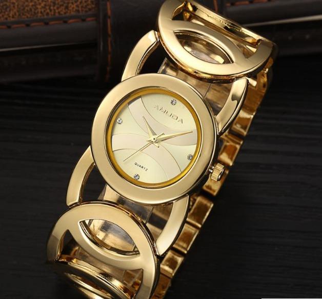 700854bf87c Relógio Amuda Feminino Dourado Liquidação Aproveite - R  96