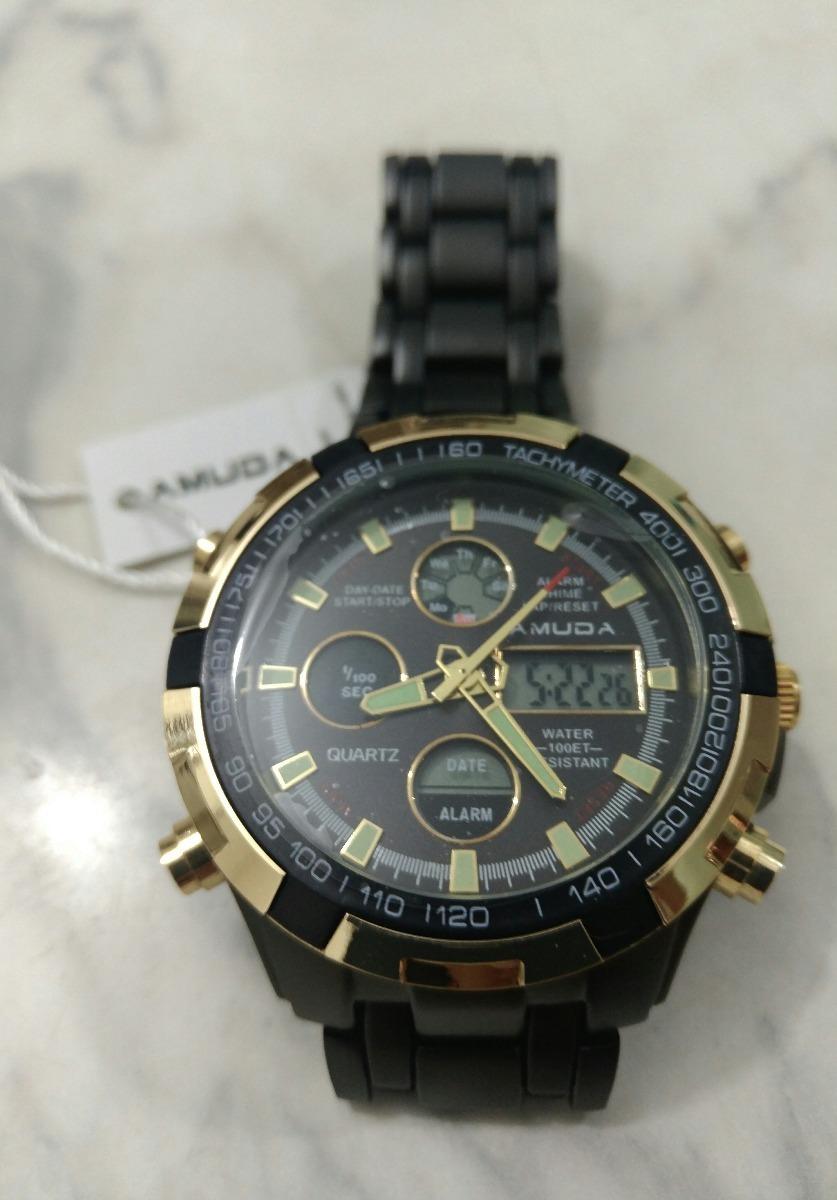 8113e51b4df relógio amuda luxo dourado masculino original promoção novo. Carregando zoom .