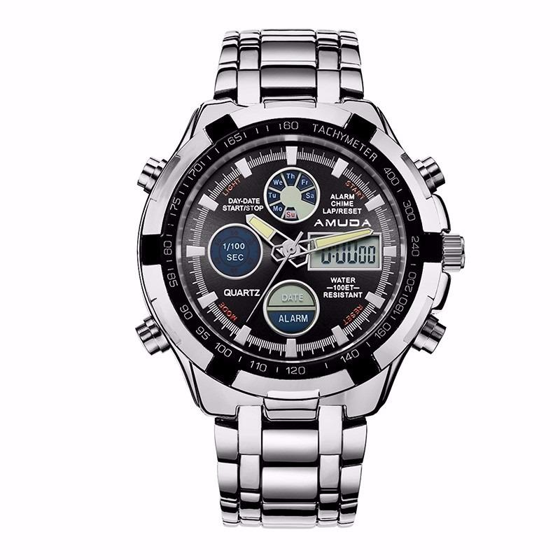 2ca9db0575f relógio amuda luxo original dourado prata frete grátis. Carregando zoom.