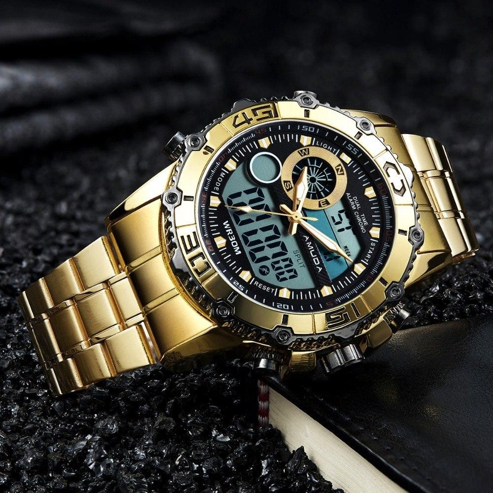 ea788a39d13 relógio amuda mod am5005 masculino esportivo luxo original. Carregando zoom.